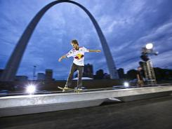 Red Bull is sponsoring a floating skate park on a 195-foot barge in an effort to promote municipal skate parks.
