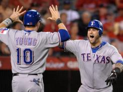 The Texas Rangers finished with 96 wins during the regular season.