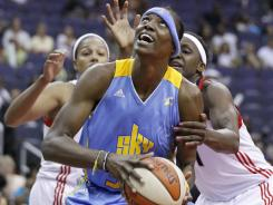 Sylvia Fowles led the WNBA in blocks and became the second player in league history to average 20 points and 10 rebounds.