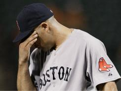 Reliever Alfredo Aceves and the Red Sox went 7-20 in September, losing out on a playoff spot on the final day of the season.