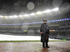 The New York Yankees and the Detroit Tigers will pick up Game 1 on Saturday after the opener was suspended Friday night.