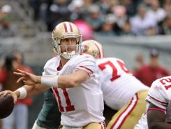 San Francisco 49ers quarterback Alex Smith helped lead a comeback against the Philadelphia Eagles.  20111002_hcs_sy4_019.jpg