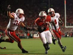 Wisconsin running back Montee Ball ran for 151 yards and four touchdowns in the Badgers' 48-17 win over Nebraska.