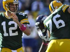 Packers QB Aaron Rodgers produced six TDs in Sunday's win over the Broncos.