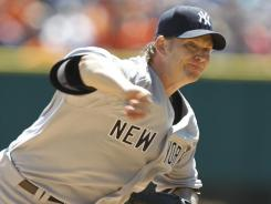 Yankees' A.J. Burnett struggled the second half of the season with a 3-4 record and 6.85 ERA.