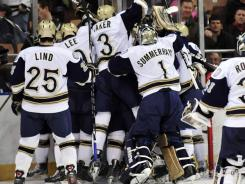 Come the 2013-14 season, Notre Dame will be celebrating hockey victories as a member of Hockey East.