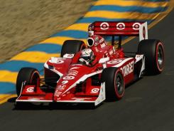 "Scott Dixon, shown here during an Aug. 28 race in Sonoma, Calif. has been testing the new 2012 cars and likes some of the safer features. ""The seating is a big safety improvement,"" Dixon said."