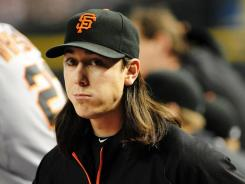 Pitcher Tim Lincecum went 13-14 with a 2.74 ERA in 217 innings  for the Giants this season.