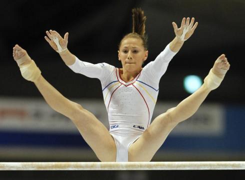 Diana Maria Chelaru helped Romania take the early lead at the gymnastics ...