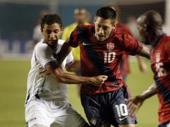 Clint Dempsey scored the only goal of the game to give the U.S. a 1-0 win over Honduras, earning coach Jurgen Klinsmann his first victory since taking over as coach.