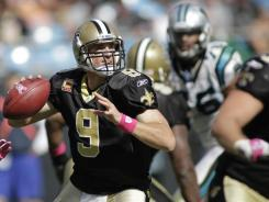 Saints quarterback Drew Brees has thrown a TD pass in 32 consecutive games, the third-longest streak in NFL history.