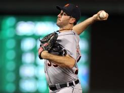 Justin Verlander threw 82 pitches in his interrupted Game 1 start. When he will pitch again remains up in the air.