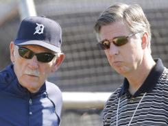 Jim Leyland (left) and  Dave Dombrowski are the longest tenured manager-GM combo in the major leagues.