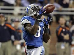 Calvin Johnson hauled in this 73-yard touchdown catch to help the Lions improve to 5-0 for the first time since 1956.
