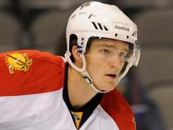 Jonathan Huberdeau had four points in five preseason games for the Panthers.