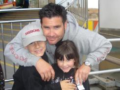 Bryan Stow, shown with his children, was severely beaten by two assailants in the parking lost at Dodger Stadium on March 31.