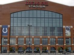 Lucas Oil Stadium will host NCAA lacrosse tournament action in May 2013. The stadium hosts the Super Bowl in February 2012.
