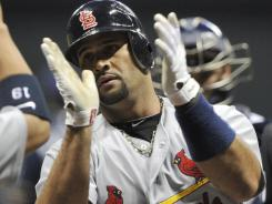 The St. Louis Cardinals' Albert Pujols shined in Game 2 of the NLCS.