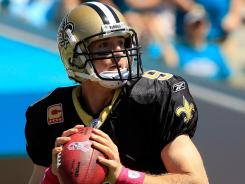 Drew Brees of the New Orleans Saints is on a record passing pace.