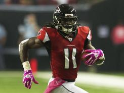 Falcons WR Julio Jones leads all rookies with 25 catches through five weeks of the 2011 NFL season.