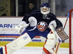 Rick DiPietro, 30, has a history of concussions and has played a total of 39 games in the past three seasons for the Islanders.