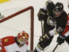 Pittsburgh Penguins left wing Matt Cooke leads the Penguins with three goals.