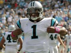 Carolina Panthers QB Cam Newton has broken numerous rookie passing records in the first five weeks.