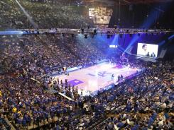 A general view of Rupp Arena before the Kentucky Wildcats big blue Madness first practice of the year.