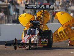 Spencer Massey's 65-point lead will take a hit after he didn't make the final 16 in Top Fuel.