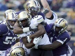 No. 24 Washington has been ganging up on the Pac-12. The Huskies face No. 5 Stanford next.