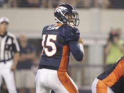Denver Broncos quarterback Tim Tebow gets his shot.
