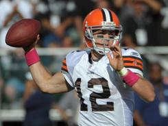 In search of a replacement quarterback? Browns starter Colt McCoy has a favorable Week 7 prospectus at home against the Seahawks in an early game Sunday.