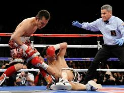 Nonito Donaire wasted little time sending Fernando Montiel  to the canvas last February, knocking the bantamweight champion out in the second round.