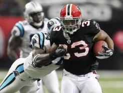 Falcons RB Michael Turner gave a vintage 2010 performance in a throwback uniform last Sunday.