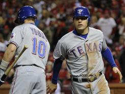 Kinsler, Rangers 'steal' Game 2 from Cardinals to even World Series Kinsler-Rangers-steal-Game-2-GOGFCRQ-x