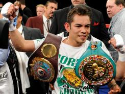 Nonito Donaire won two belts after his second-round TKO victory against Fernando Montiel last February.