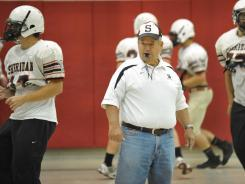 "Sheridan, Ind., football coach Larry ""Bud"" Wright has won nine state titles in 46 years and is a win from tying the state victories record."