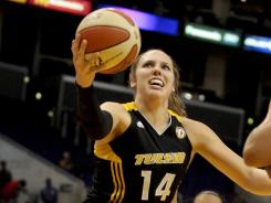 Kayla Pedersen and the Tulsa Shock finished a league-worst 3-31 and have a 44.2% chance of landing the top pick in the WNBA draft.