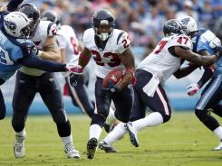 Houston Texans running back Arian Foster had a huge day against the Tennessee Titans Sunday.