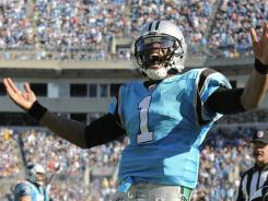 Newton receives help running into rookie record book