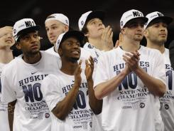 Connecticut won the NCAA men's basketball championship last April, but  the team lagged behind others with its graduation rate.