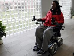 Former Rutgers football player Eric LeGrand is seen at Kessler Institute for Rehabilitation in West Orange, N.J., Wednesday, Oct. 12, 2011. LeGrand was paralyzed from the neck down after making a special teams tackle against Army on Saturday, Oct. 16, 2010.