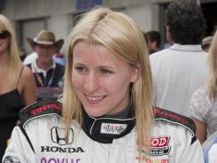 Rookie Pippa Mann made her IndyCar debut at the Indianapolis 500 in May and finished 20th.