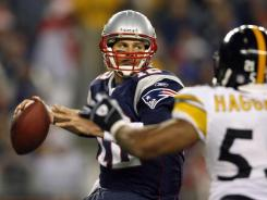Including the postseason, Tom Brady has 6-1 record against the Pittsburgh Steelers and has thrown has 14 TDs and only three interceptions.