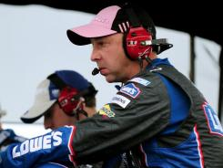 Chad Knaus, crew chief of the No. 48 Chevrolet, is under fire for his instructions to driver Jimmie Johnson before the Talladega race. The comments made it sound like Knaus was trying to skirt NASCAR's rules.