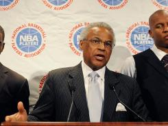 Billy Hunter, Executive Director of the National Basketball Players Association, seen here on Oct. 2, met with NBA owners for about six hours Friday.