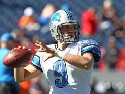 Detroit Lions quarterback Matthew Stafford had three touchdowns against the Denver Broncos.