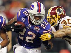 Bills running back Fred Jackson (22) had 120 yards rushing and 74 yards receiving in Buffalo's shutout of Washington.