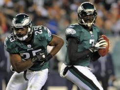 LeSean McCoy (25), Michael Vick (7) and the Eagles beat up the Cowboys in prime time Sunday night. The ratings jumped 25% from last year's Steelers-Saints matchup.