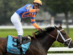 Stay Thirsty with Javier Castellano won the Travers Stakes  at Saratoga Race Course in August.